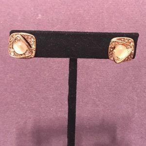 Rose gold tone blingy earrings. 2/$10 Sale